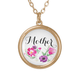 Mother's Day Gift Watercolor Flowers Necklace