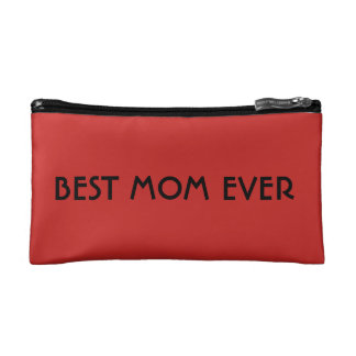 Mother's Day Gifts Make Up Bag Red Best Mom Ever