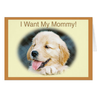 Mother's Day Golden Retriever Card