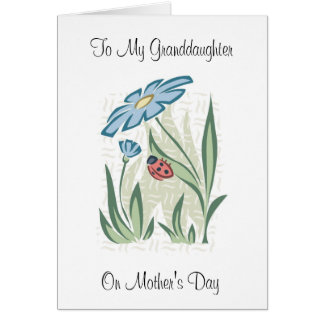 Mother's Day Granddaughter - Greeting Card