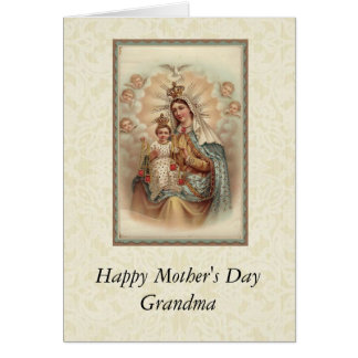 Mother's Day Grandma Virgin Mary Child Jesus Card