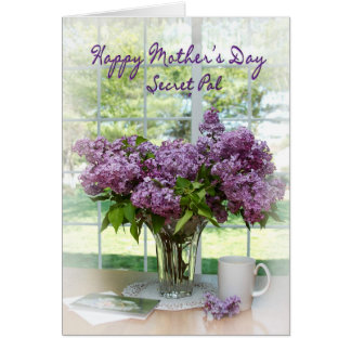 MOTHER'S DAY GREETING - SECRET PAL - LILACS GREETING CARD