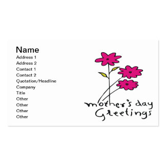 Mothers Day Greetings Pack Of Standard Business Cards