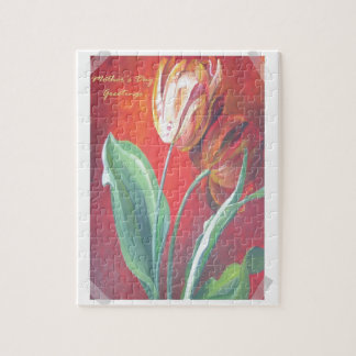 Mother's Day Greetings - Tulips Jigsaw Puzzle