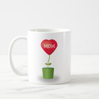 Mother's Day Growing Red Heart Plant Mom Mug