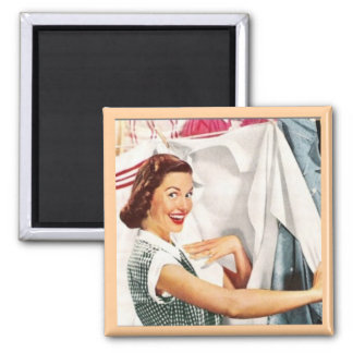 MOTHER'S DAY HAPPY HOUSEWIFE WASH DAY RETRO MAGNET