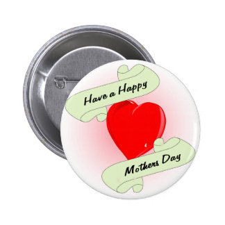 Mothers Day Heart 2 Inch Round Button