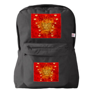 Mother's day, hearts and roses backpack