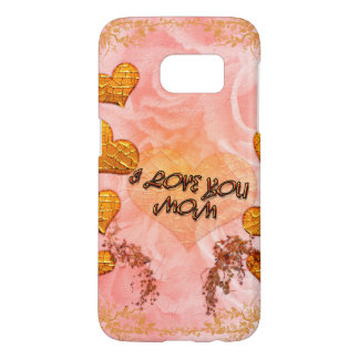 Mother's day, hearts and roses in soft colors samsung galaxy s7 case