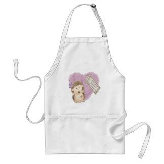 Mothers Day Hedgehog - Standard Apron