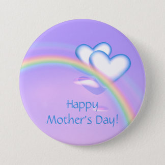 Mothers Day High Hearts 3 Inch Round Button