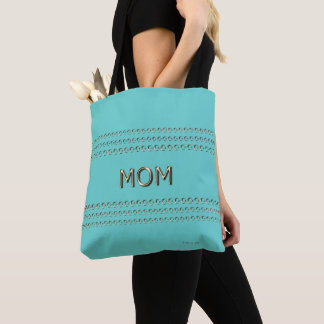 Mother's-Day_MOM-Moons & Stars(c)Spring Aqua* Tote Bag