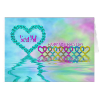 Mother's Day Mom - Secret Pal -  Hearts and Roses Card