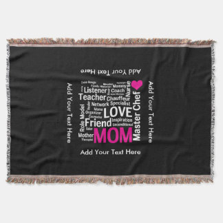 Mother's Day or Birthday for a Wonderful Mom Throw Blanket