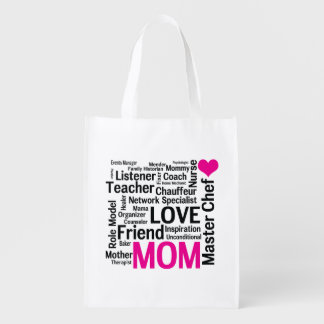 Mother's Day or Mom's Birthday Do-it-All Mother Reusable Grocery Bag