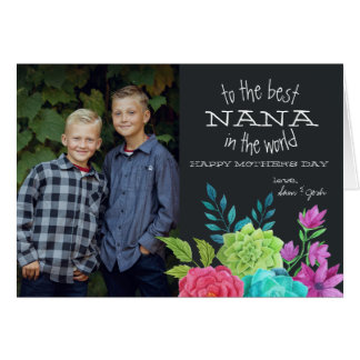 Mother's Day Photocard for Nana Card