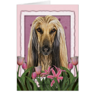 Mothers Day - Pink Tulips - Afghan Card