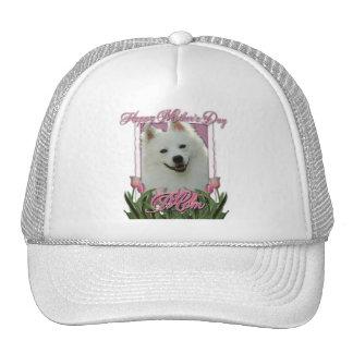 Mothers Day - Pink Tulips - American Eskimo Trucker Hat
