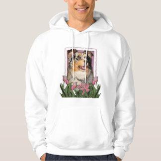 Mothers Day - Pink Tulips - Aussie - Gustine Hoodie