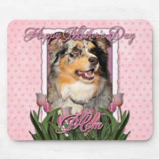 Mothers Day - Pink Tulips - Aussie - Gustine Mouse Pad