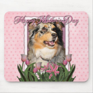 Mothers Day - Pink Tulips - Aussie - Gustine Mousepads