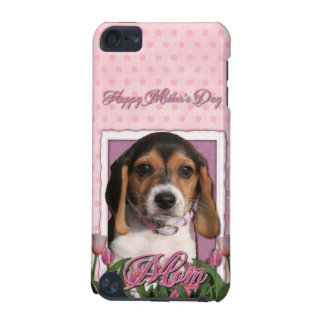 Mothers Day - Pink Tulips - Beagle Puppy iPod Touch 5G Cover