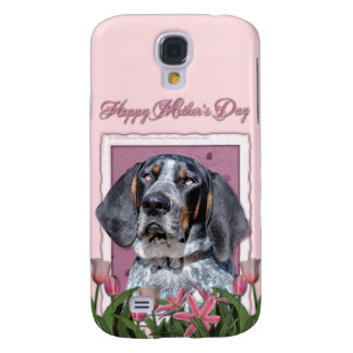 Mothers Day - Pink Tulips - Bluetick Coonhound