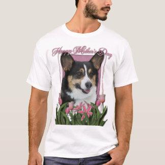 Mothers Day - Pink Tulips - Corgi T-Shirt