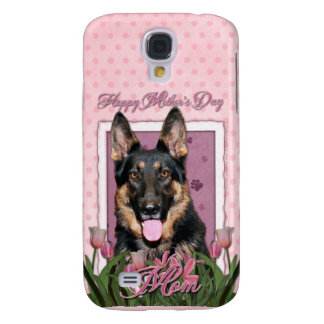 Mothers Day - Pink Tulips - German Shepherd - Kuno Galaxy S4 Cover