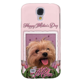 Mothers Day - Pink Tulips - Morkie - Lacey