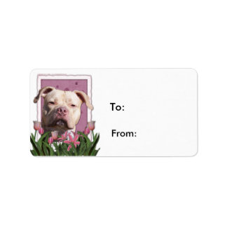 Mothers Day - Pink Tulips - Pitbull - Jersey Girl