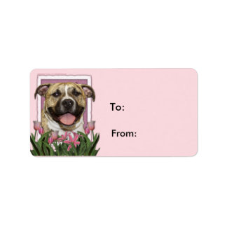 Mothers Day - Pink Tulips - Pitbull - Tigger