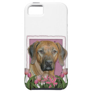Mothers Day - Pink Tulips - Rhodesian Ridgeback iPhone 5 Cover