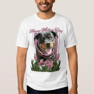Mothers Day - Pink Tulips - Rottweiler -SambaParTi T-shirt