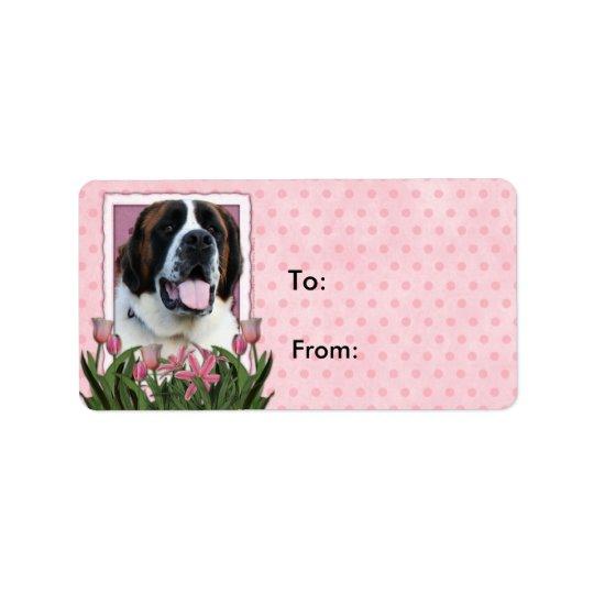 Mothers Day - Pink Tulips - Saint Bernard - Mae Label