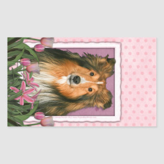 Mothers Day - Pink Tulips - Sheltie