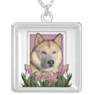 Mothers Day - Pink Tulips - Siberian Husky Pendants