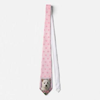 Mothers Day - Pink Tulips - Westie Tie