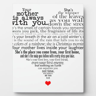 Mother's day poem plaque