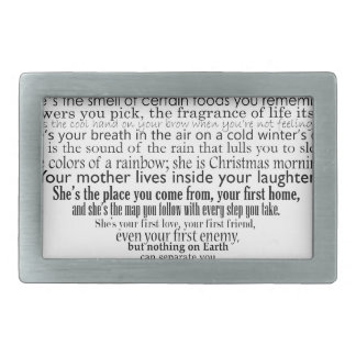Mother's day poem rectangular belt buckle