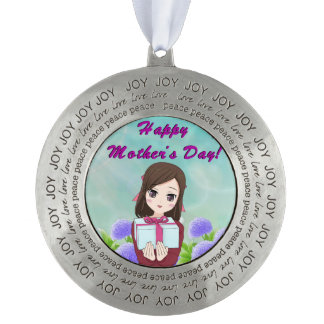 Mother's Day Present Pewter Ornament