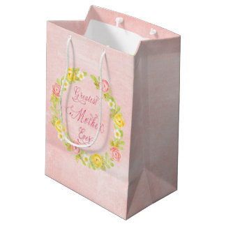 Mother's Day - Pretty Watercolor Roses 2 Medium Gift Bag