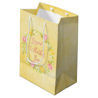 Mother's Day -  Pretty Watercolor Roses 3 WA Medium Gift Bag