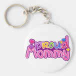 Mother's Day Proud Mommy Basic Round Button Keychain