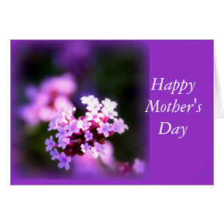 Mother's Day - Purple Flowers Card