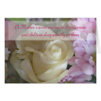 Mother's Day Quote Rose Bouquet Card