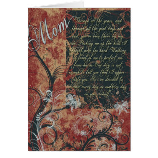 Mothers Day Red Flowery Sweet Card