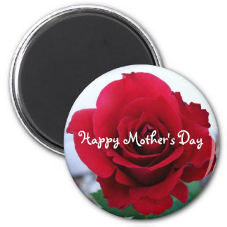 Mother's Day Red Rose 2 Inch Round Magnet