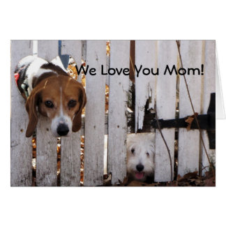 Mother's Day Rescued Pups Card