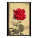 """Mother's Day Rose 5"""" X 7"""" Invitation Card"""
